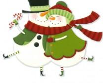Snowman Dancing Couple