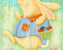 Spring Bunny With Basket Flag