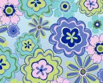 flowers blue vibrant website