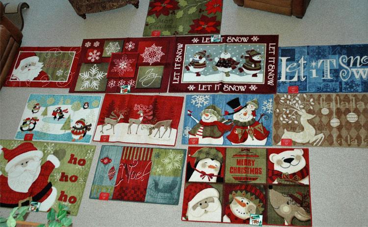 Kohl's Christmas rugs 2012
